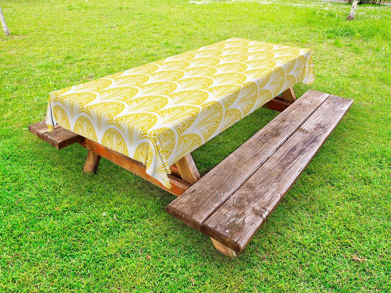 Gelb und Weiß Outdoor-Tischdecke Blumenmotive