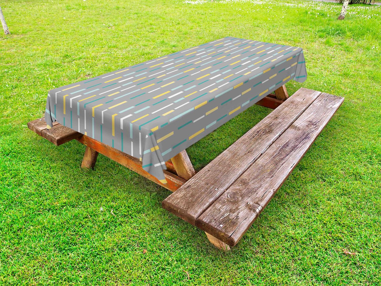 Geometrisch Outdoor-Tischdecke Abstraktes Retro-Design