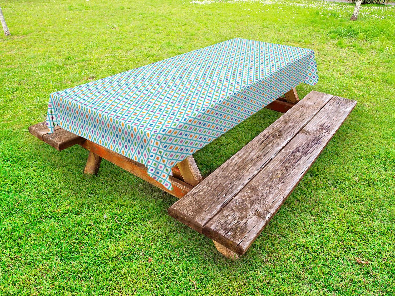 Verrückt Outdoor-Tischdecke Checkered Diagonal Squares