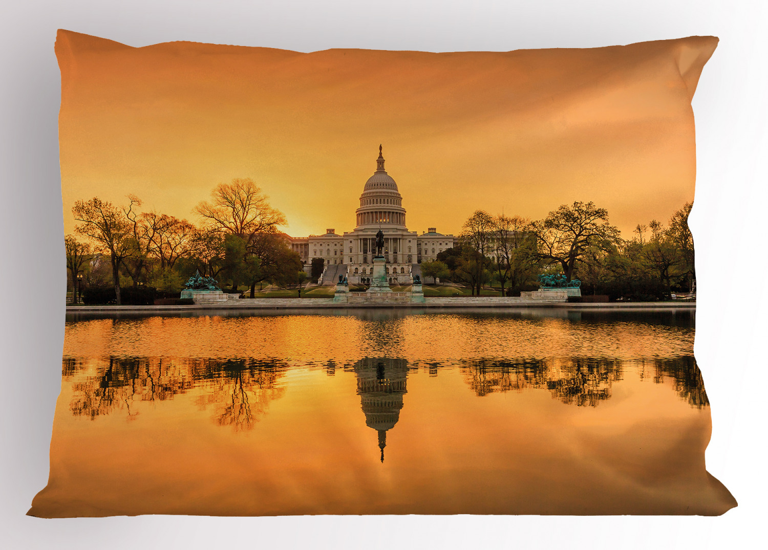United States Pillow Sham Decorative Pillowcase 3 Sizes Bedroom Decor Ambesonne