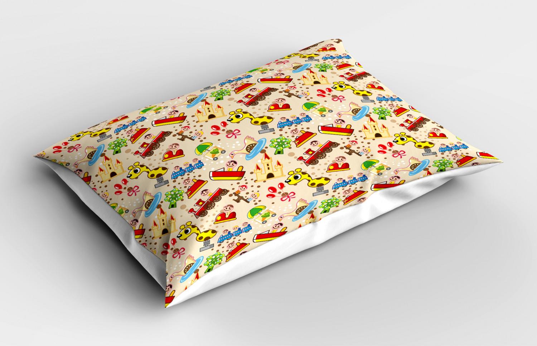 Kids Pillow Sham Decorative Pillowcase 3 Sizes Available for Bedroom Decor