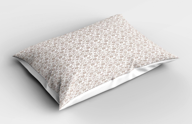 Beige-Funda-de-Almohada-Decoracion-Funda-De-Almohada-3-tamanos-disponibles-para-Dormitorio miniatura 7