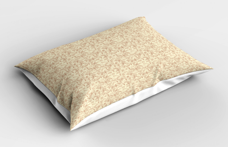 Beige-Pillow-Sham-Decorative-Pillowcase-3-Sizes-Available-for-Bedroom-Decor thumbnail 17
