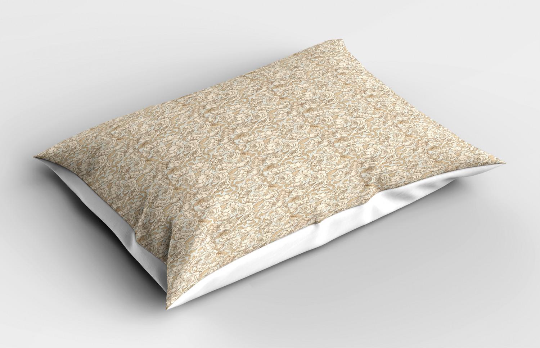 Beige-Pillow-Sham-Decorative-Pillowcase-3-Sizes-Available-for-Bedroom-Decor thumbnail 37