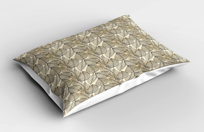 Beige-Pillow-Sham-Decorative-Pillowcase-3-Sizes-Available-for-Bedroom-Decor thumbnail 19