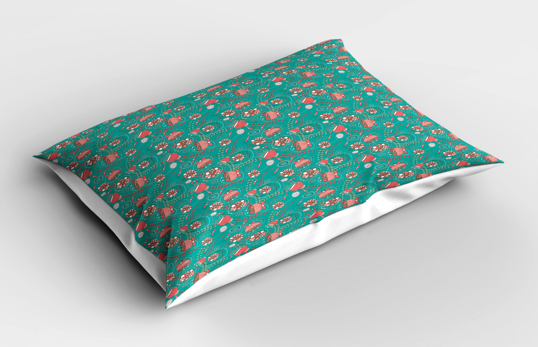 Turquoise-Pillow-Sham-Decorative-Pillowcase-3-Sizes-Bedroom-Decor-Ambesonne miniature 3