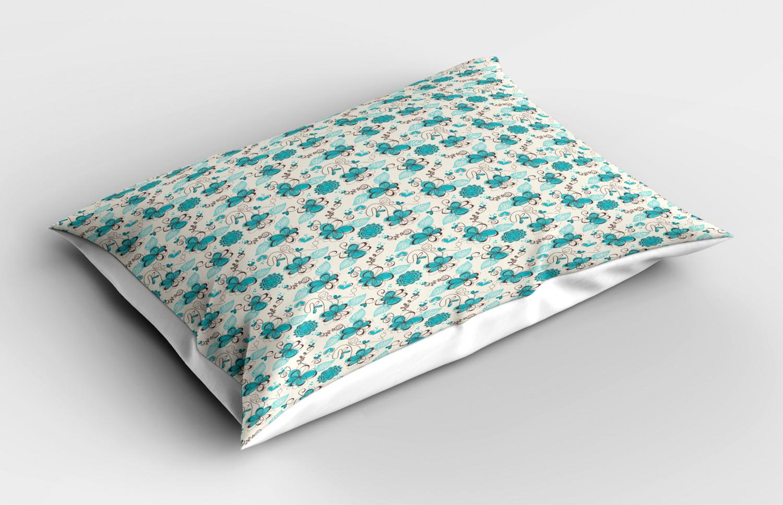 Turquoise-Pillow-Sham-Decorative-Pillowcase-3-Sizes-Bedroom-Decor-Ambesonne miniature 27