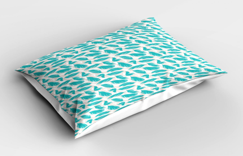 Turquoise-Pillow-Sham-Decorative-Pillowcase-3-Sizes-Bedroom-Decor-Ambesonne miniature 7