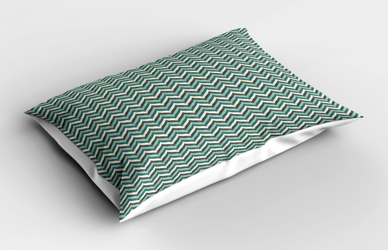 Turquoise-Pillow-Sham-Decorative-Pillowcase-3-Sizes-Bedroom-Decor-Ambesonne miniature 5