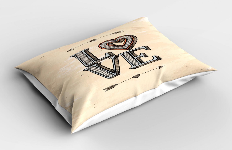 Beige-Pillow-Sham-Decorative-Pillowcase-3-Sizes-Available-for-Bedroom-Decor thumbnail 21