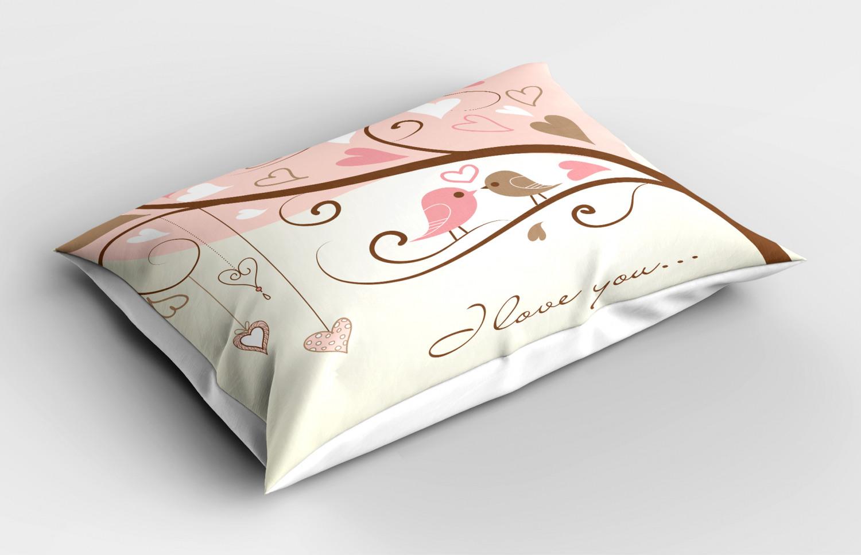 Beige-Funda-de-Almohada-Decoracion-Funda-De-Almohada-3-tamanos-disponibles-para-Dormitorio miniatura 25