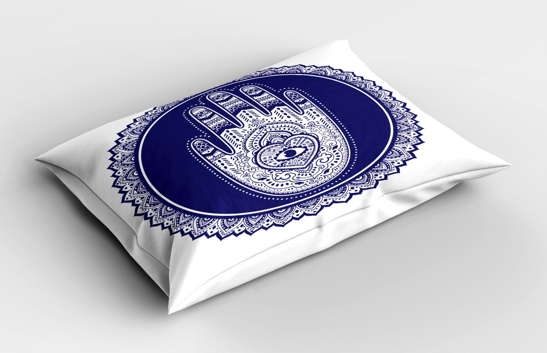 Hamsa-Pillow-Sham-Decorative-Pillowcase-3-Sizes-for-Bedroom-Decor thumbnail 16