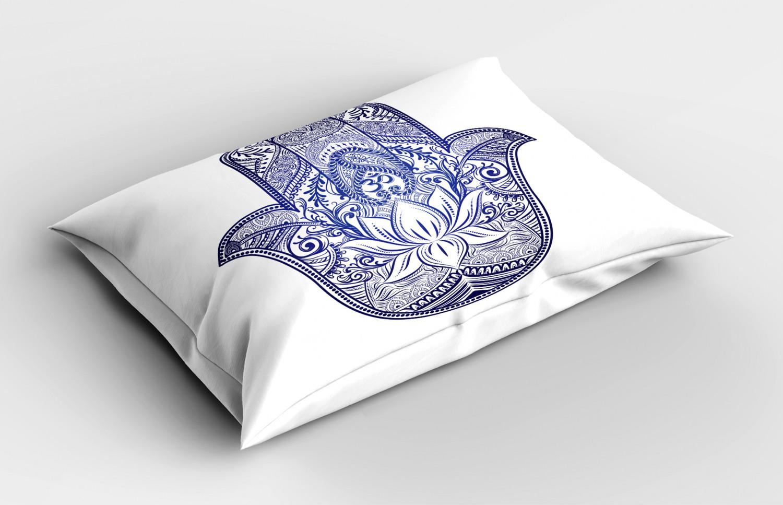 Hamsa-Pillow-Sham-Decorative-Pillowcase-3-Sizes-for-Bedroom-Decor thumbnail 20