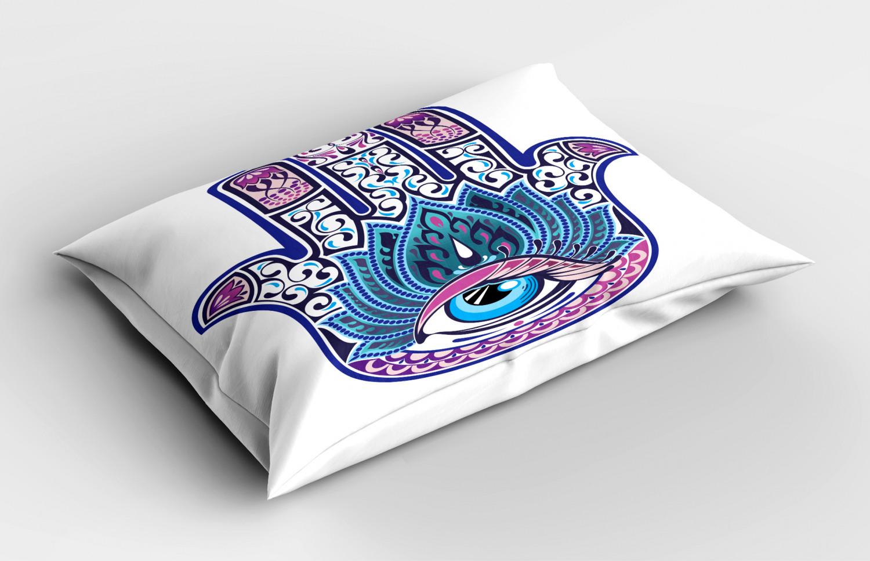 Hamsa-Pillow-Sham-Decorative-Pillowcase-3-Sizes-for-Bedroom-Decor thumbnail 18