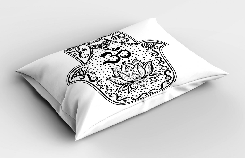 Hamsa-Pillow-Sham-Decorative-Pillowcase-3-Sizes-for-Bedroom-Decor thumbnail 4