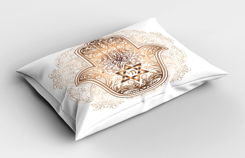 Hamsa-Pillow-Sham-Decorative-Pillowcase-3-Sizes-for-Bedroom-Decor thumbnail 38