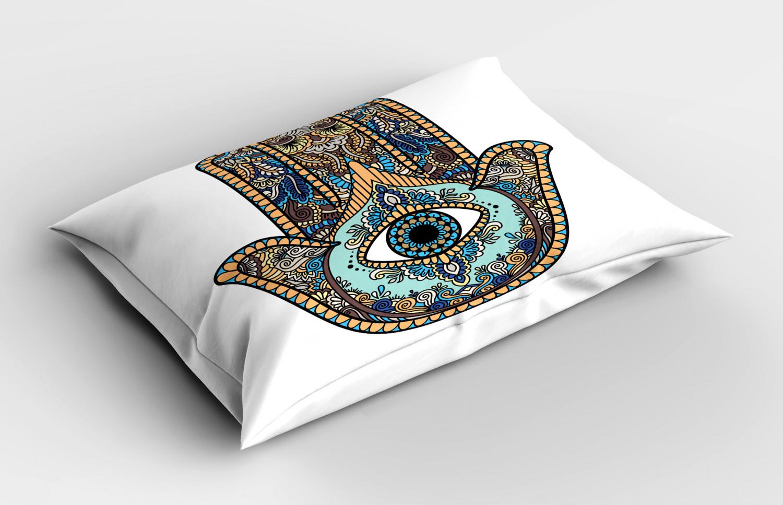 Hamsa-Pillow-Sham-Decorative-Pillowcase-3-Sizes-for-Bedroom-Decor thumbnail 12