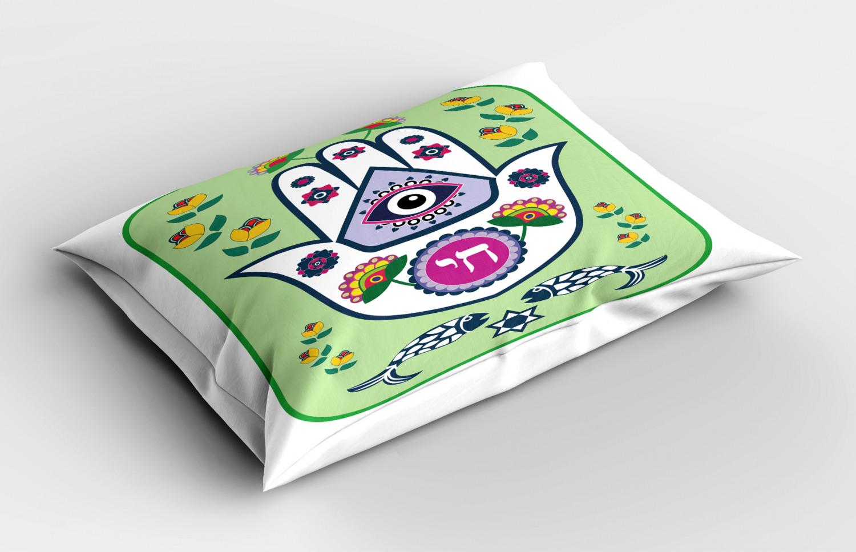 Hamsa-Pillow-Sham-Decorative-Pillowcase-3-Sizes-for-Bedroom-Decor thumbnail 8