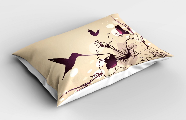 Snowman Pillow Sham Decorative Pillowcase 3 Sizes Bedroom Decor Ambesonne