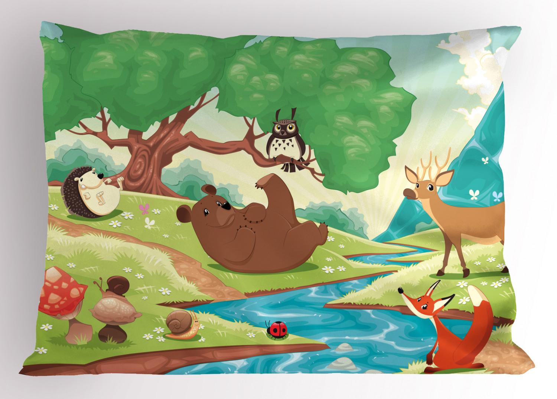 igel kopfkissenbezug cartoon landschaft  ebay