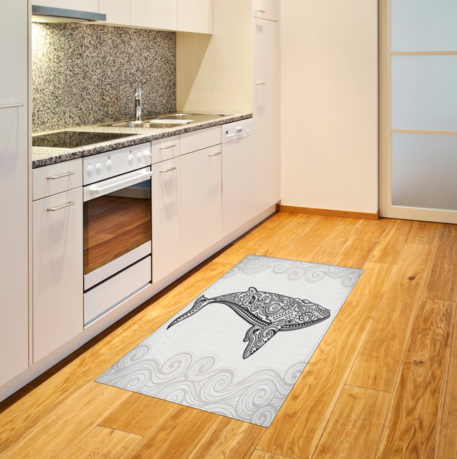 Nautical-Whale-Area-Rug-Decorative-Flat-Woven-Accent-Rug-Home-Decor-2-Sizes
