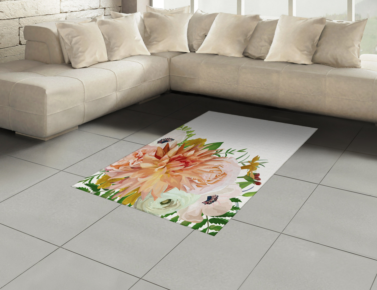 Anemone-Flower-Area-Rug-Decor-Flat-Woven-Accent-Rug-Home-Decor-2-Sizes-Ambesonne thumbnail 26