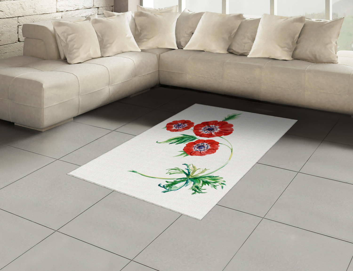 Anemone-Flower-Area-Rug-Decor-Flat-Woven-Accent-Rug-Home-Decor-2-Sizes-Ambesonne thumbnail 36