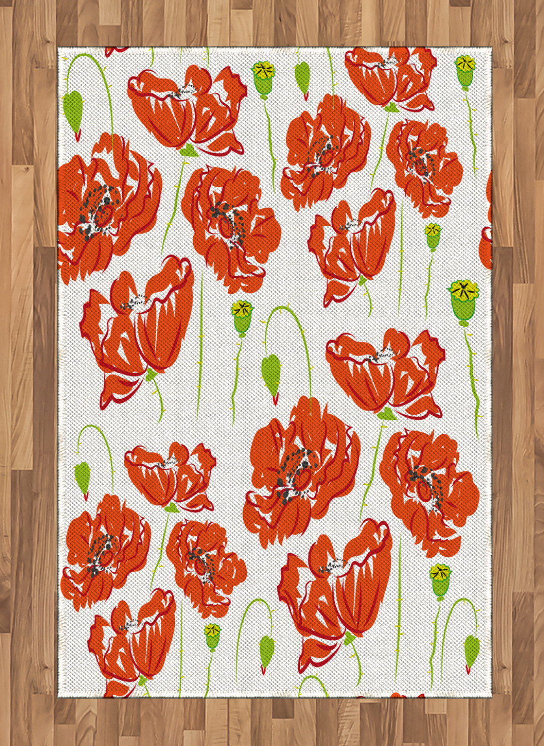 Anemone-Flower-Area-Rug-Decor-Flat-Woven-Accent-Rug-Home-Decor-2-Sizes-Ambesonne thumbnail 13