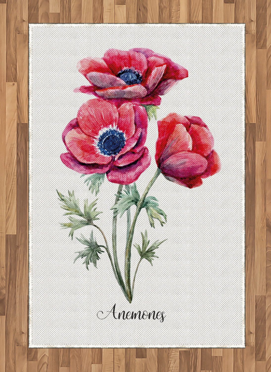 Anemone-Flower-Area-Rug-Decor-Flat-Woven-Accent-Rug-Home-Decor-2-Sizes-Ambesonne thumbnail 53