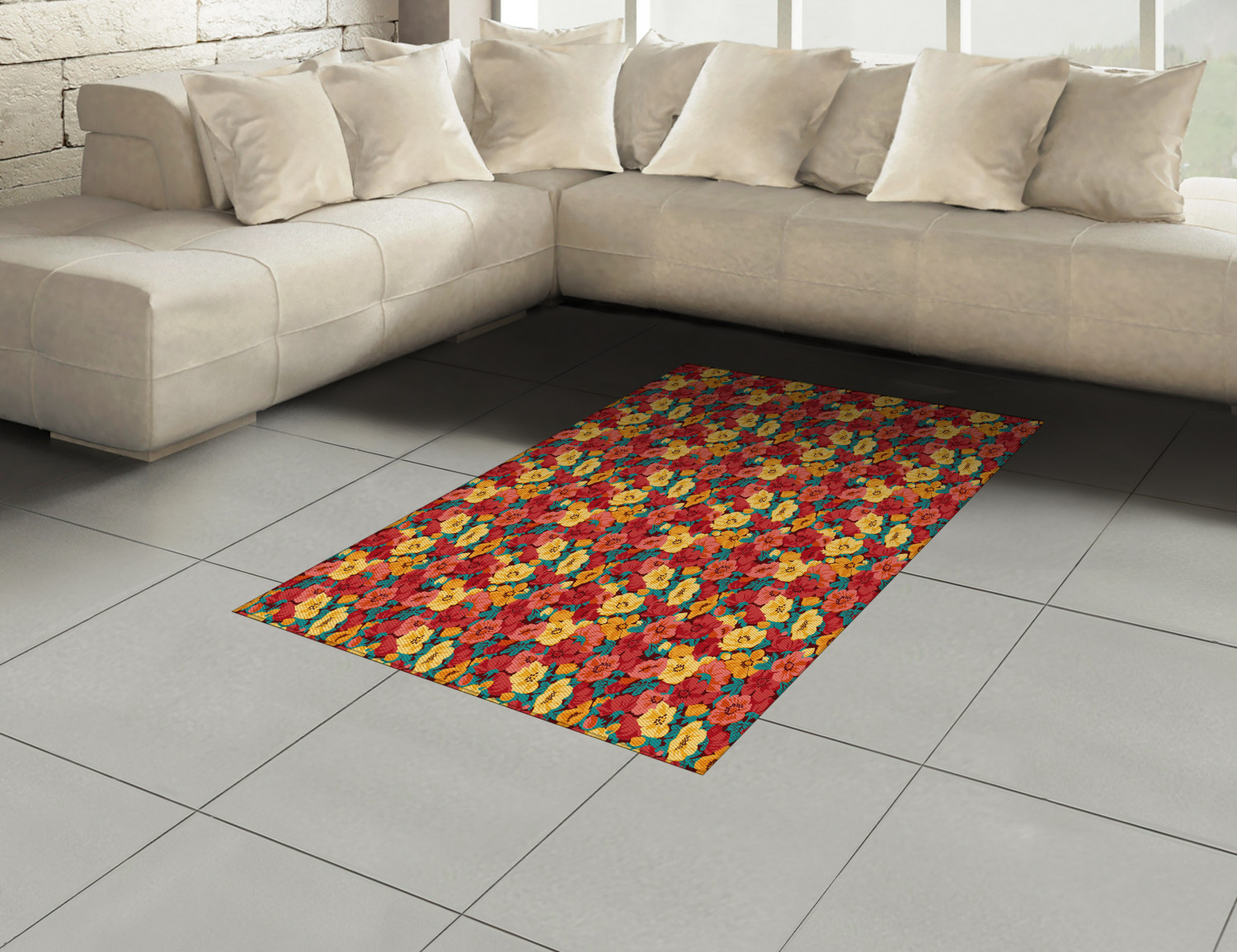 Anemone-Flower-Area-Rug-Decor-Flat-Woven-Accent-Rug-Home-Decor-2-Sizes-Ambesonne thumbnail 40