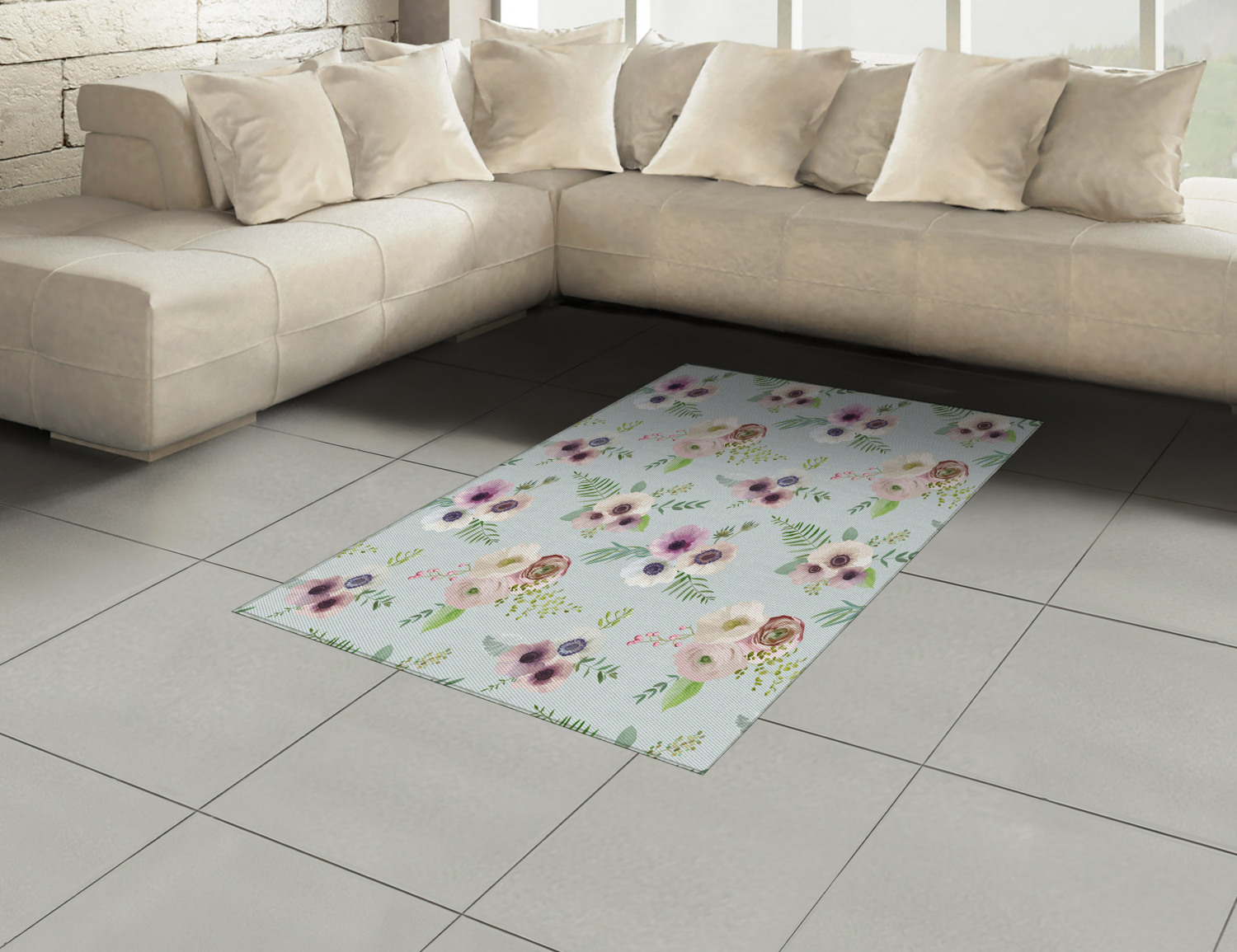 Anemone-Flower-Area-Rug-Decor-Flat-Woven-Accent-Rug-Home-Decor-2-Sizes-Ambesonne thumbnail 44