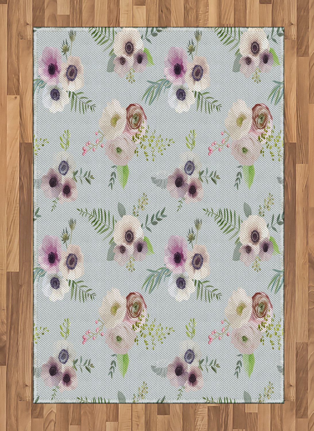 Anemone-Flower-Area-Rug-Decor-Flat-Woven-Accent-Rug-Home-Decor-2-Sizes-Ambesonne thumbnail 43