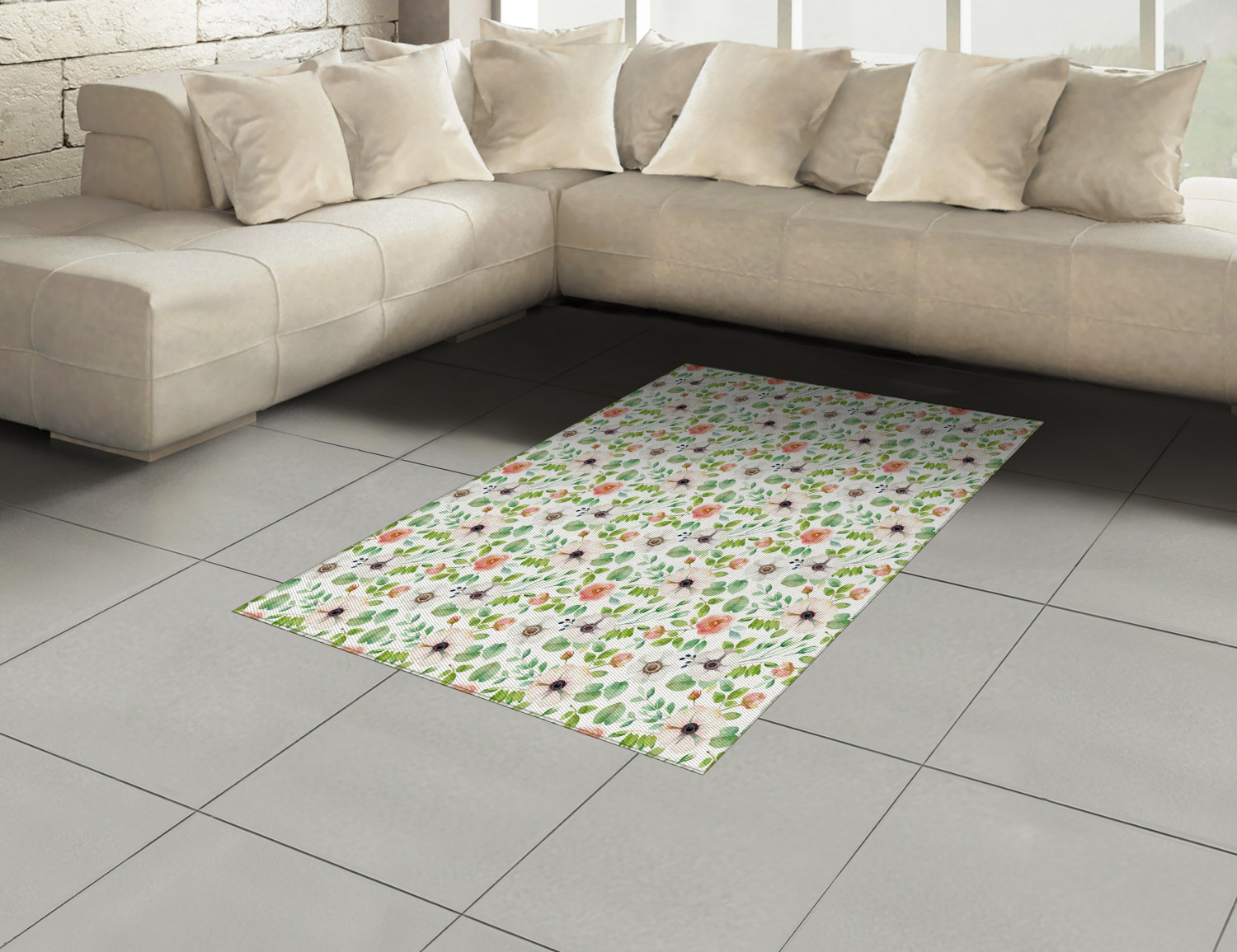 Anemone-Flower-Area-Rug-Decor-Flat-Woven-Accent-Rug-Home-Decor-2-Sizes-Ambesonne thumbnail 22