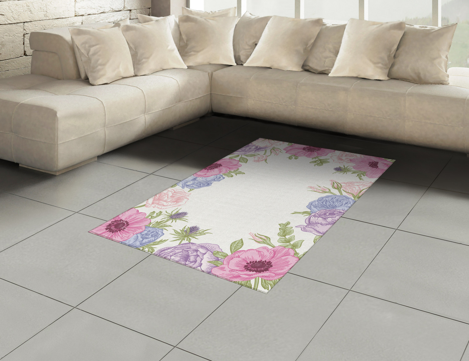 Anemone-Flower-Area-Rug-Decor-Flat-Woven-Accent-Rug-Home-Decor-2-Sizes-Ambesonne thumbnail 50