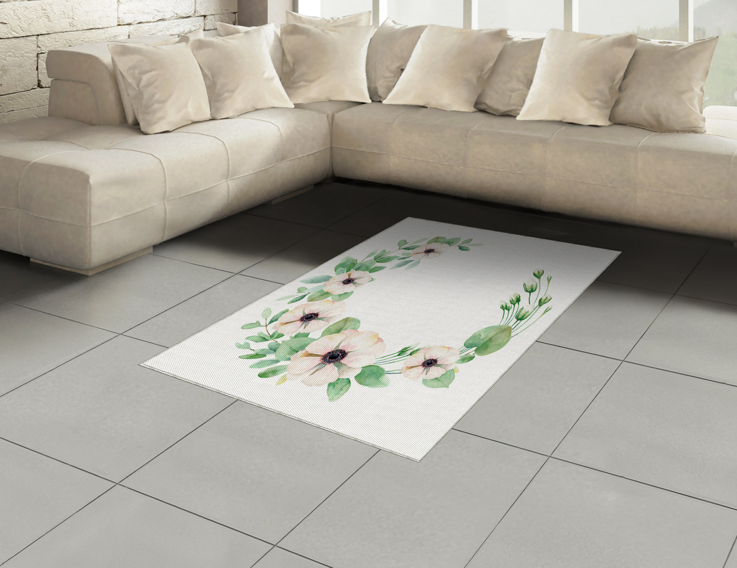 Anemone-Flower-Area-Rug-Decor-Flat-Woven-Accent-Rug-Home-Decor-2-Sizes-Ambesonne thumbnail 28