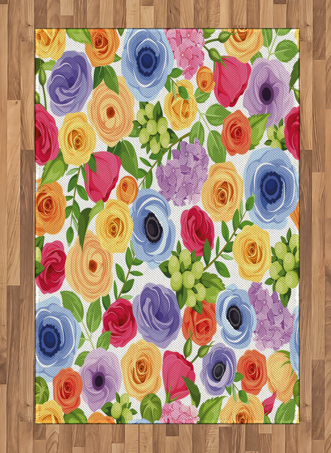 Anemone-Flower-Area-Rug-Decor-Flat-Woven-Accent-Rug-Home-Decor-2-Sizes-Ambesonne thumbnail 31