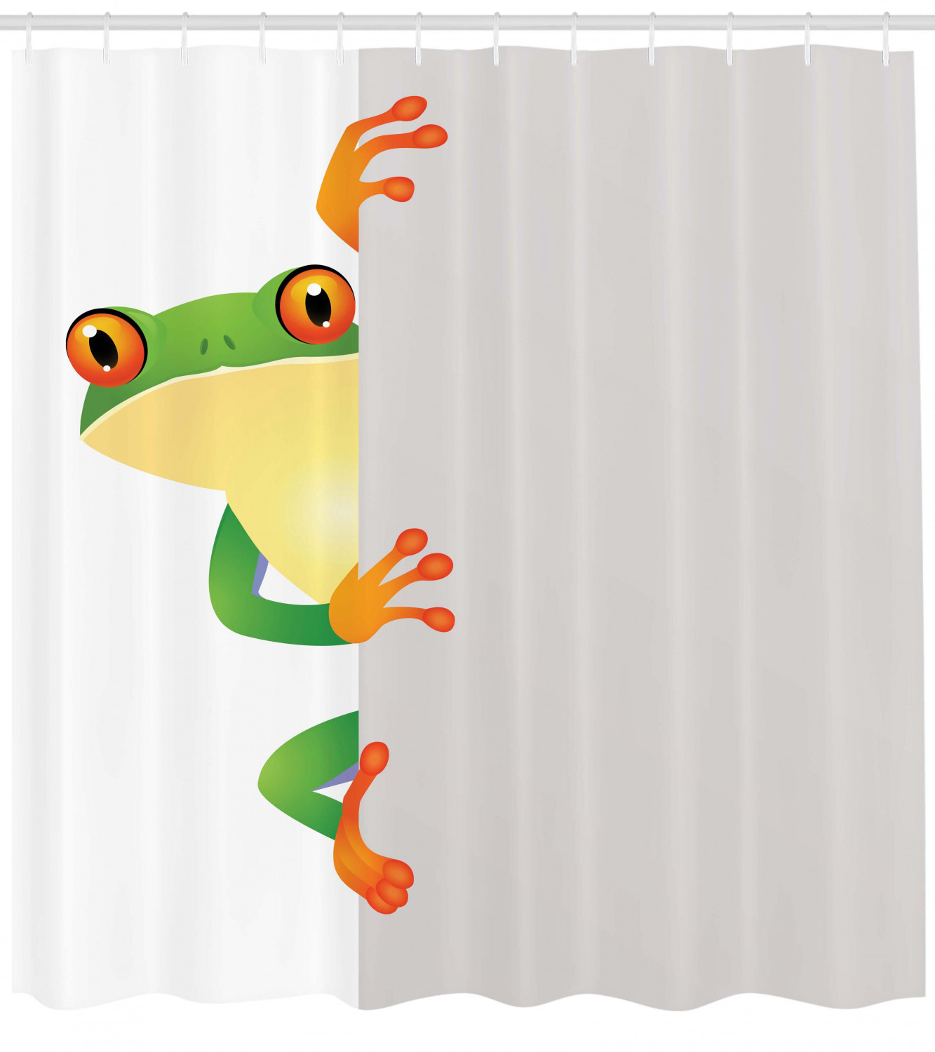 African Shower Curtain Frog Prince Prince Prince Reptiles Print for Bathroom ad6eeb