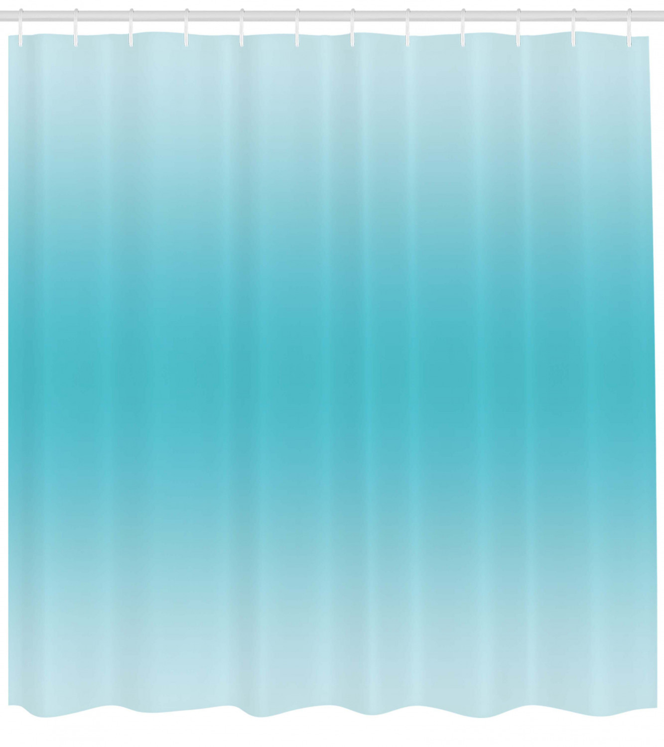 Image Is Loading Ombre Shower Curtain Tropical Aquatic Print For