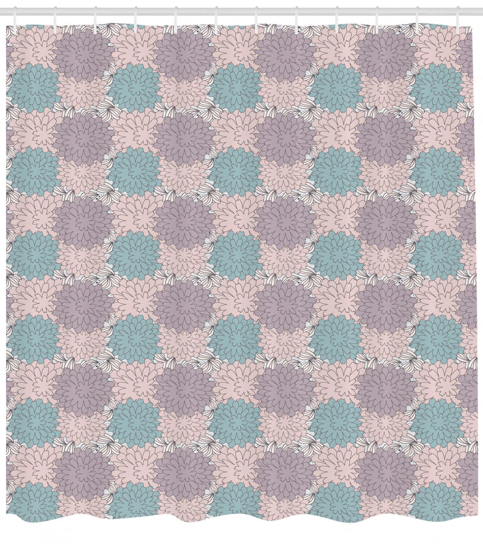 Details About Romantic Flowers Shower Curtain Fabric Decor Set With Hooks 4 Sizes