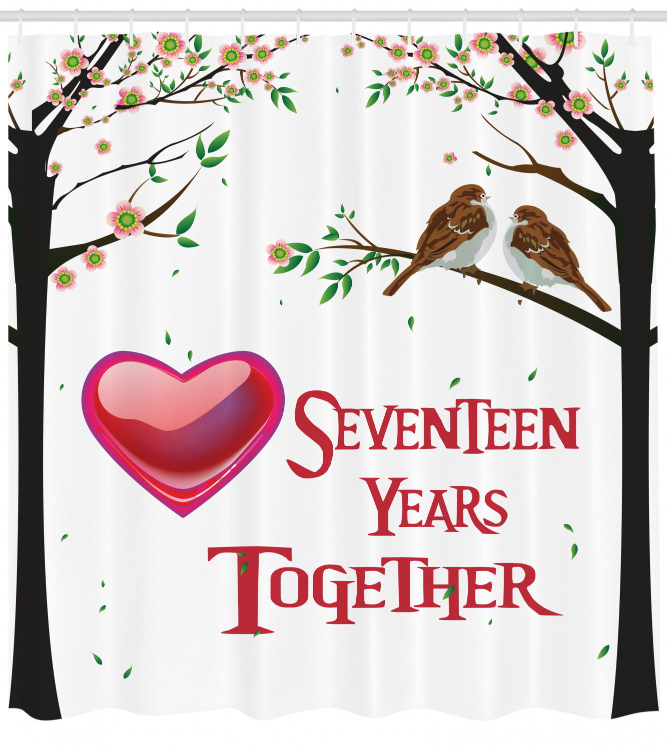 17th Wedding Anniversary Gift Ideas: 17th Wedding Anniversary Gifts For Couple Red Hearts Art