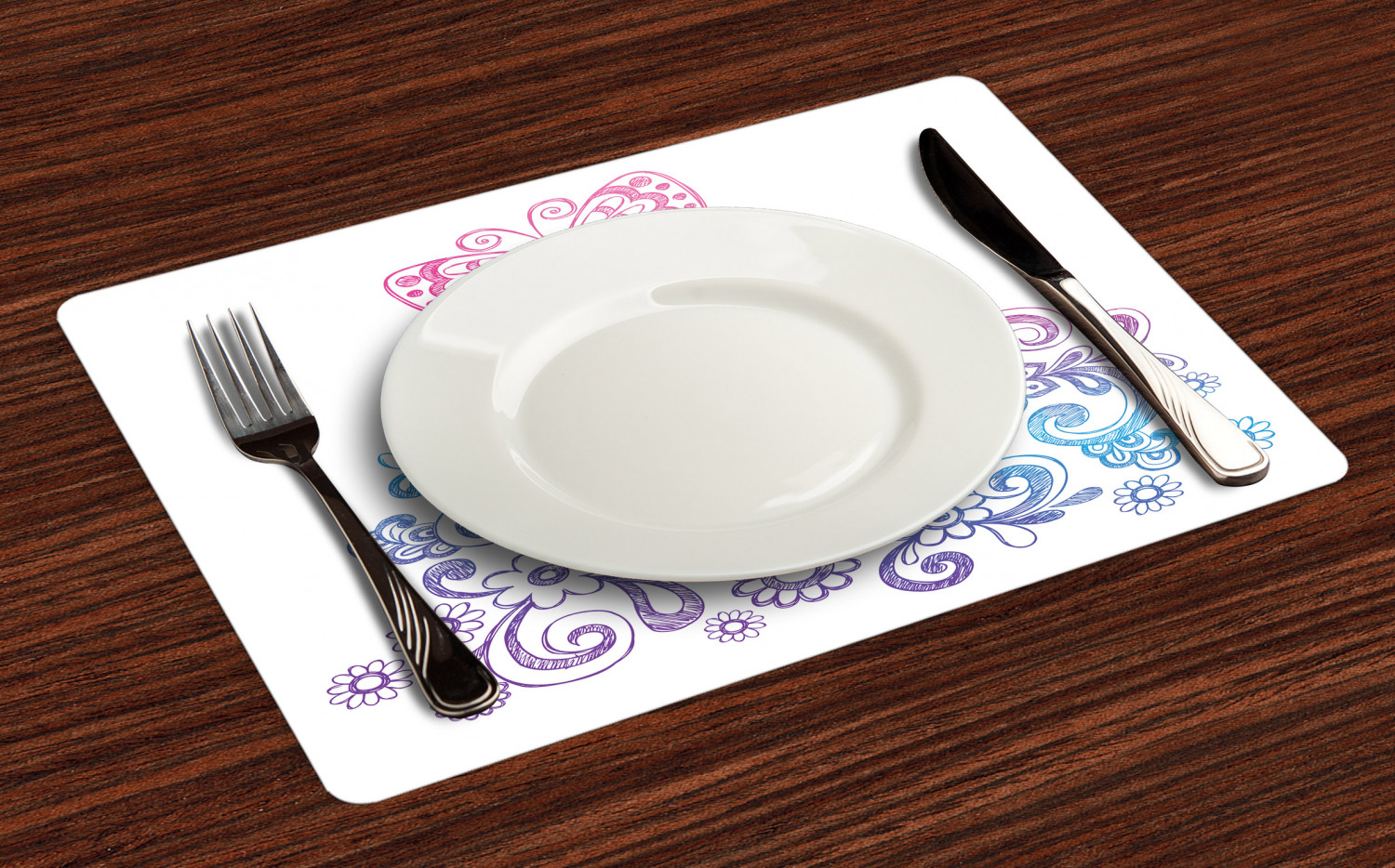 Ambesonne-Fabric-Place-Mats-Set-of-4-Placemats-for-Dining-Room-and-Kitchen-Table thumbnail 17