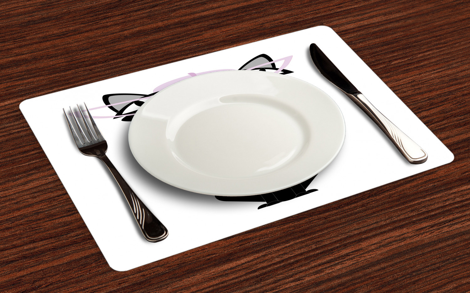 Ambesonne-Fabric-Place-Mats-Set-of-4-Placemats-for-Dining-Room-and-Kitchen-Table thumbnail 85