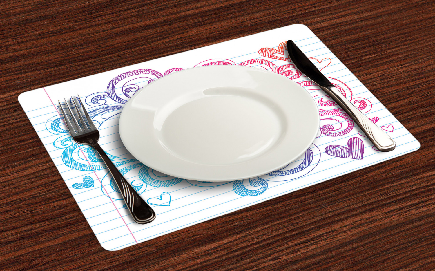 Ambesonne-Fabric-Place-Mats-Set-of-4-Placemats-for-Dining-Room-and-Kitchen-Table thumbnail 53