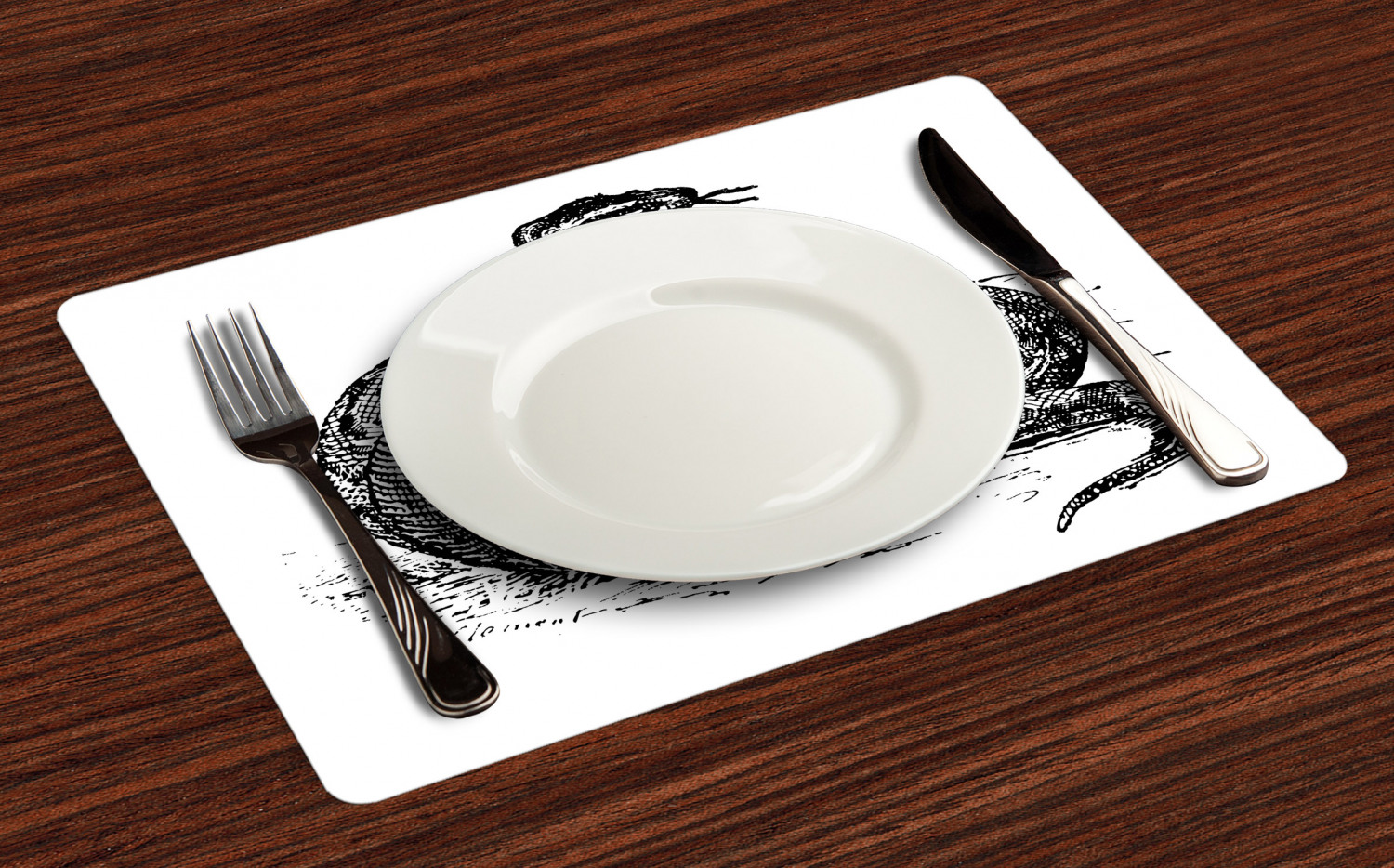 Ambesonne-Fabric-Place-Mats-Set-of-4-Placemats-for-Dining-Room-and-Kitchen-Table thumbnail 69