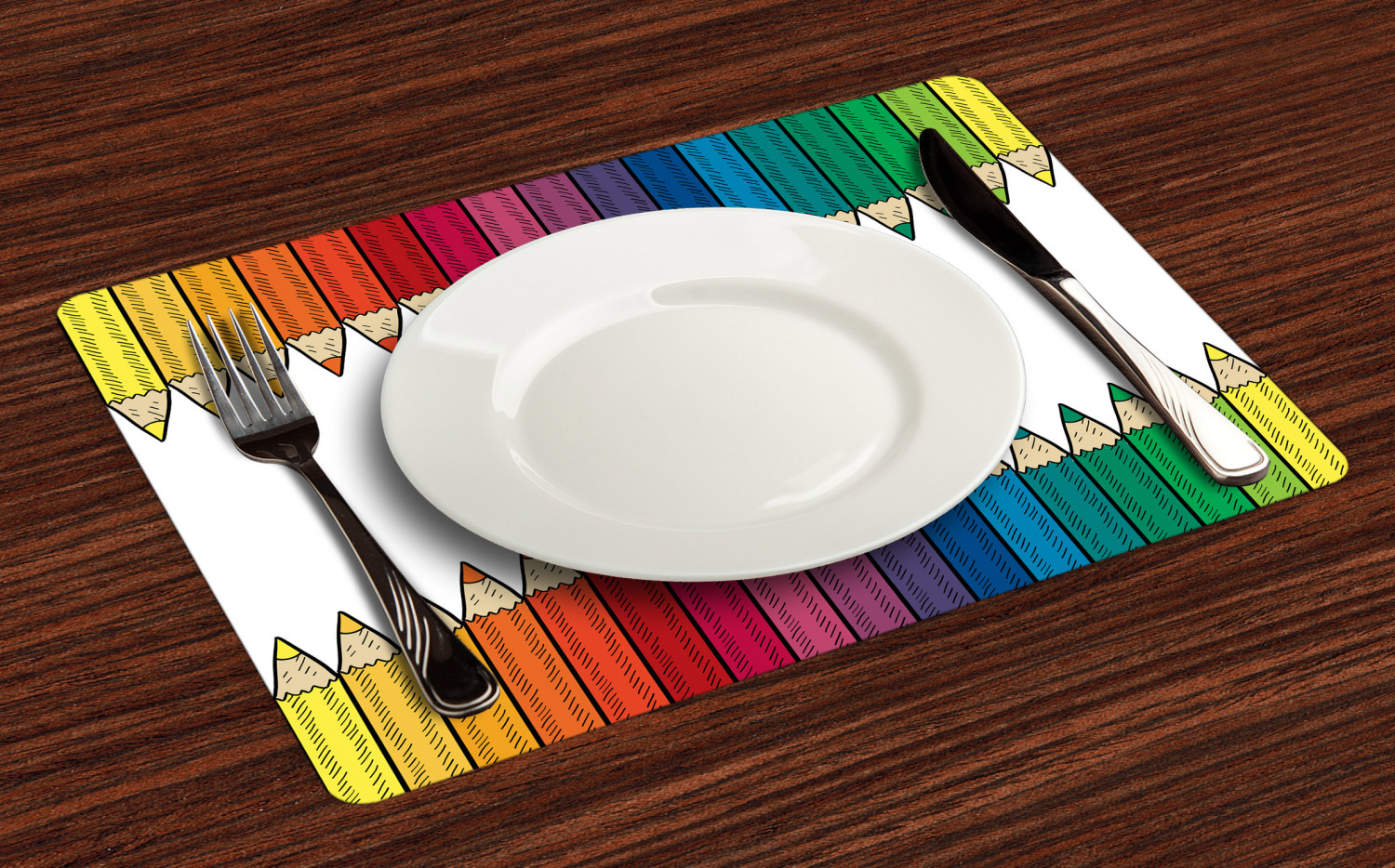 Ambesonne-Fabric-Place-Mats-Set-of-4-Placemats-for-Dining-Room-and-Kitchen-Table thumbnail 29