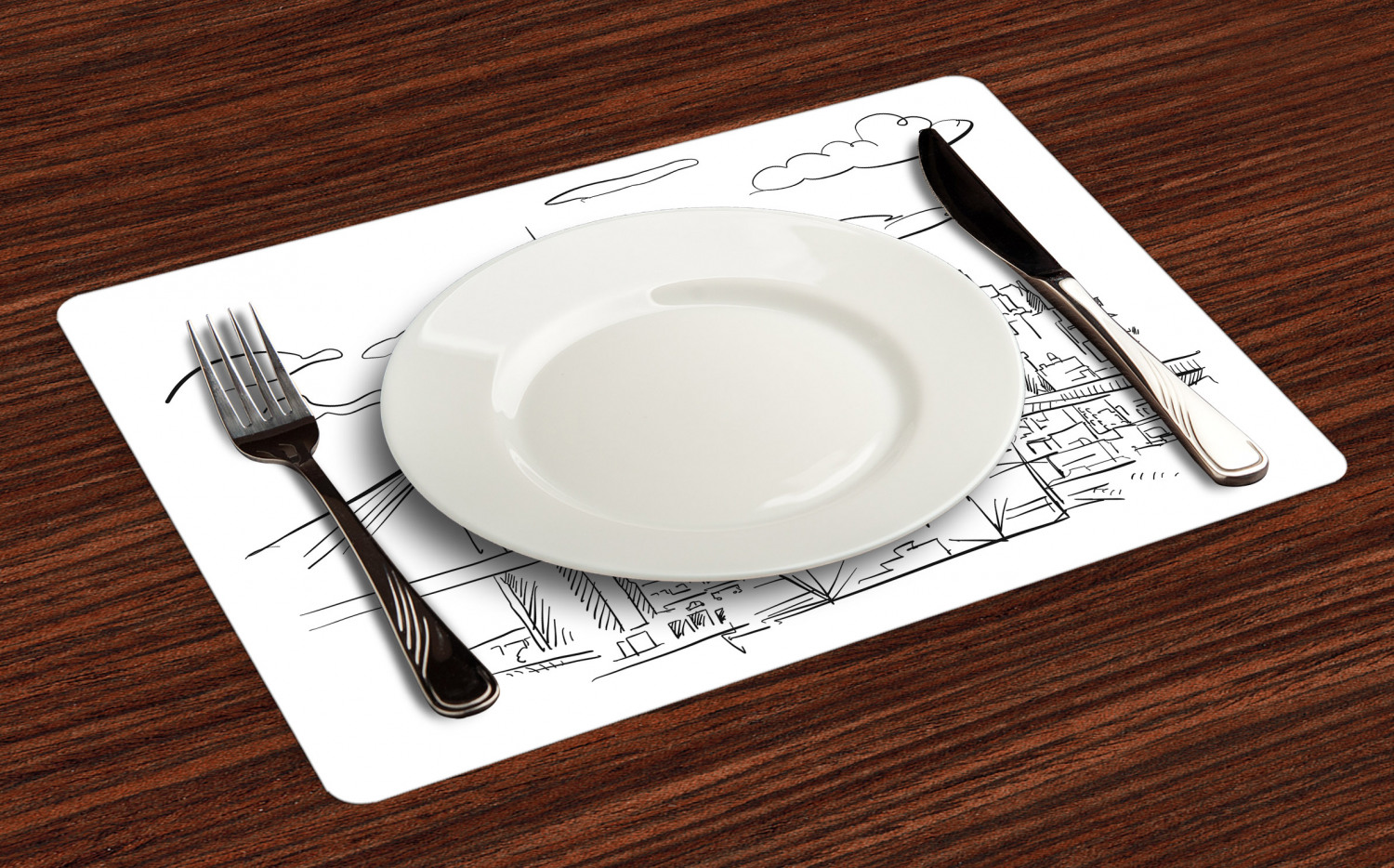 Ambesonne-Fabric-Place-Mats-Set-of-4-Placemats-for-Dining-Room-and-Kitchen-Table thumbnail 13