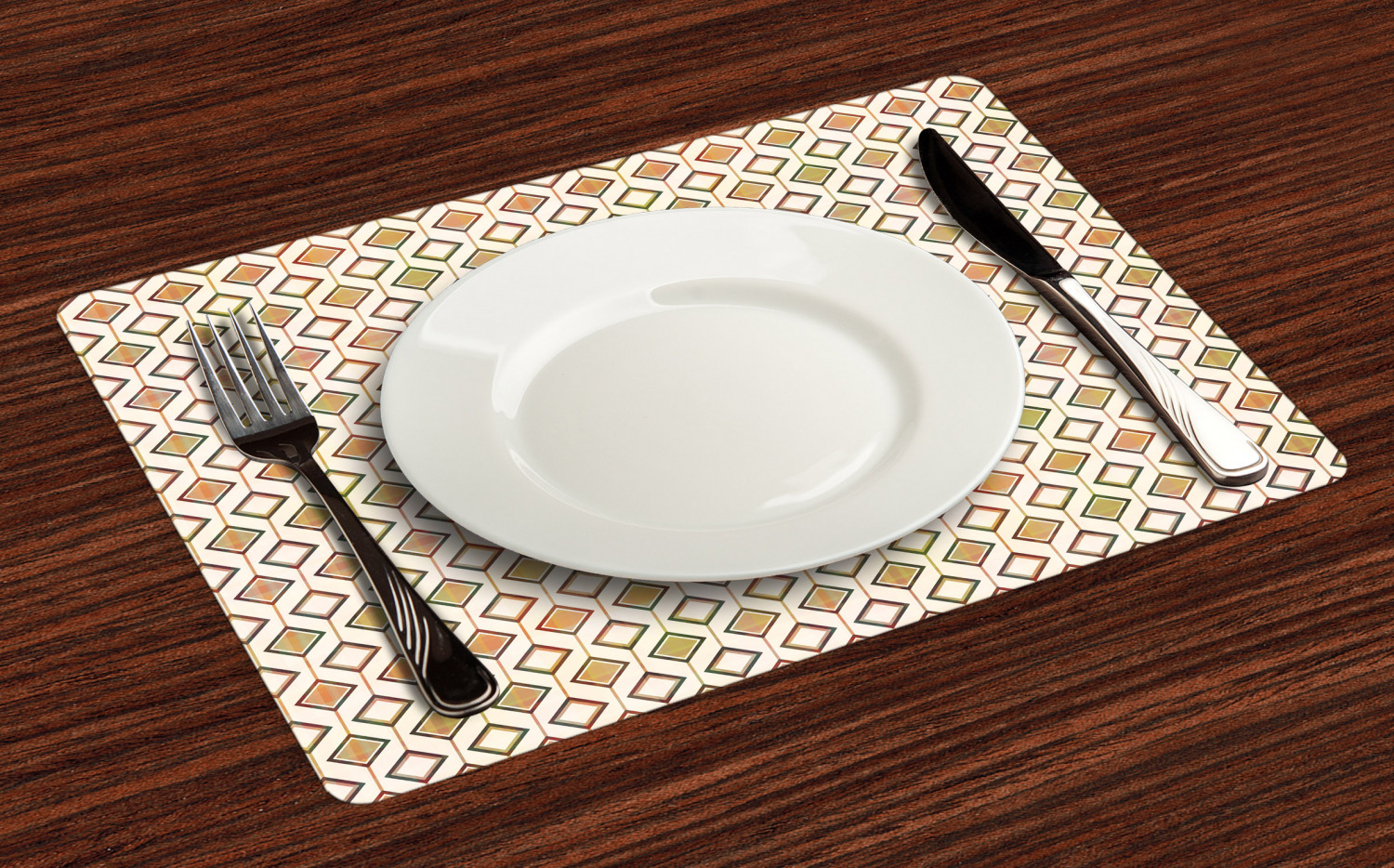 Ambesonne-Fabric-Place-Mats-Set-of-4-Placemats-for-Dining-Room-and-Kitchen-Table thumbnail 217