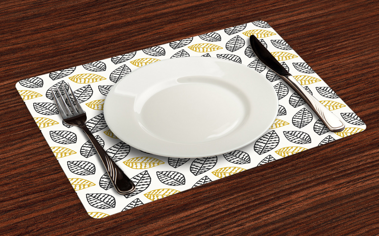 Ambesonne-Fabric-Place-Mats-Set-of-4-Placemats-for-Dining-Room-and-Kitchen-Table thumbnail 49