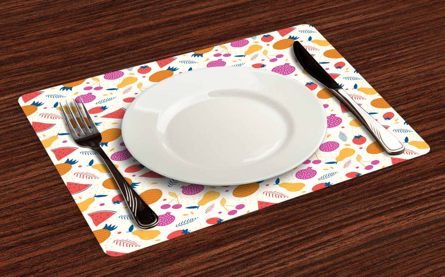Ambesonne-Fabric-Place-Mats-Set-of-4-Placemats-for-Dining-Room-and-Kitchen-Table thumbnail 61
