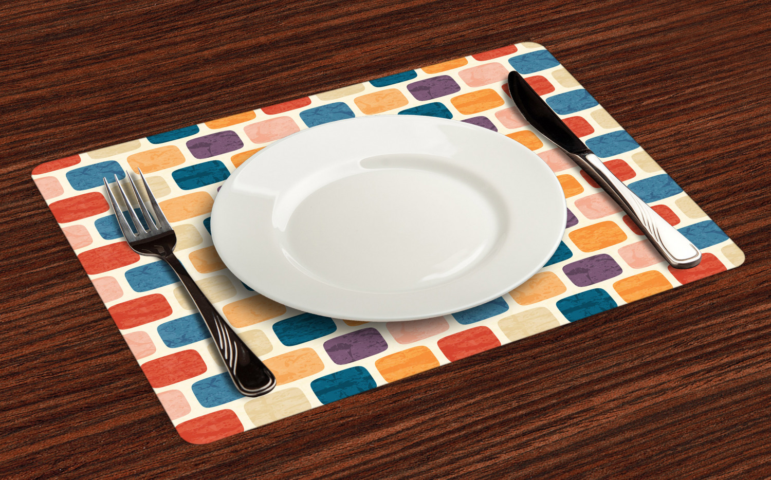 Ambesonne-Fabric-Place-Mats-Set-of-4-Placemats-for-Dining-Room-and-Kitchen-Table thumbnail 25